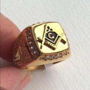 Mosaic Freemasonry Ring